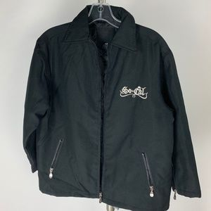 SoCal No Fear Boys'  Black Motocross Jacket Size M